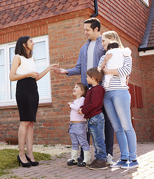 New family collecting keys for BTR property